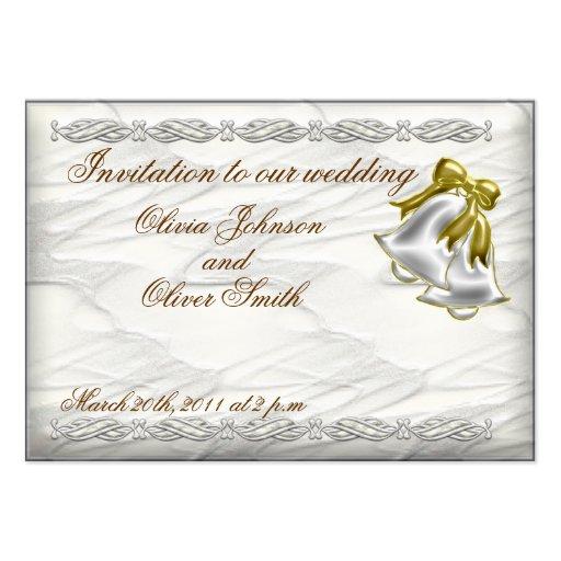 Tarjeta de visita blanca de la invitación del boda