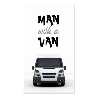 Tarjeta de visita blanca de Van