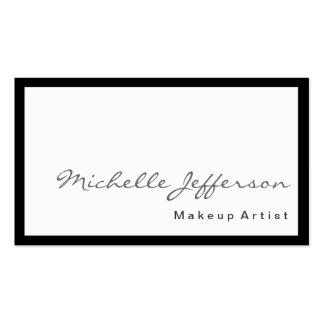 Tarjeta de visita blanca del artista de maquillaje