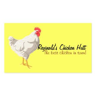 Tarjeta de visita blanca del pollo