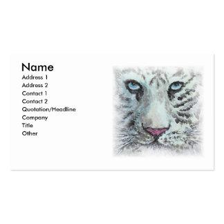 Tarjeta de visita blanca del tigre