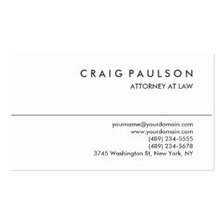 Tarjeta de visita blanca negra del abogado del tarjetas de visita