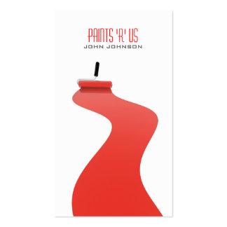Tarjeta de visita blanca roja moderna de la planti