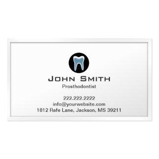 Tarjeta de visita blanca simple de Prosthodontist