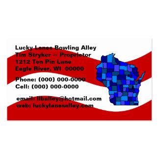 Tarjeta de visita blanca y azul roja del estado