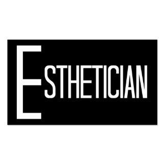Tarjeta de visita blanco y negro del Esthetician