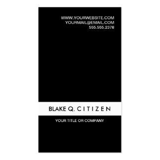 Tarjeta de visita blanco y negro moderna simple
