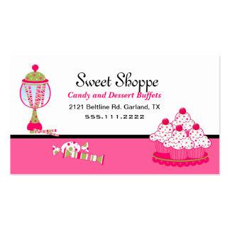 Tarjeta de visita bonita del caramelo y de abastec