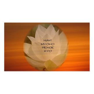 """Tarjeta de visita budista del SGI - """"Nam Myoho Ren"""