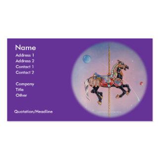 Tarjeta de visita - caballo 1 del carrusel de Peta