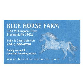 Tarjeta de visita - caballo blanco azul de Backrou