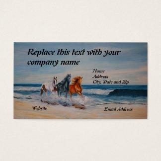 Tarjeta de visita, caballos en la resaca tarjetas de visita