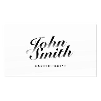 Tarjeta de visita caligráfica con clase del cardió