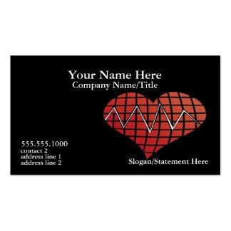 Tarjeta de visita cardiaca