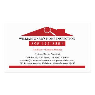 Tarjeta de visita casera de la inspección
