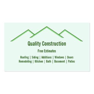 Tarjeta de visita casera del remodelado/de constru
