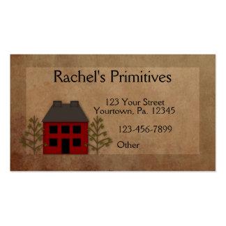 Tarjeta de visita casera primitiva