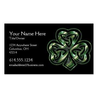 Tarjeta de visita céltica del irlandés del diseño