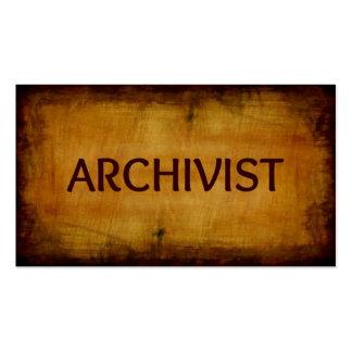 Tarjeta de visita cepillada antigüedad del archivi
