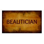 Tarjeta de visita cepillada antigüedad del Beautic
