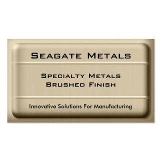 Tarjeta de visita cepillada del metal