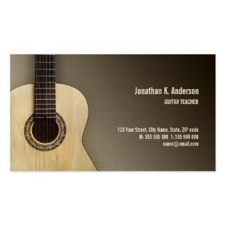 Tarjeta de visita clásica de la guitarra