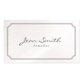 Tarjeta de visita clásica de la joyería de Pearl W