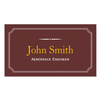 Tarjeta de visita clásica del ingeniero aeroespaci