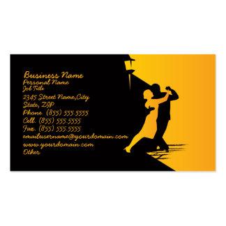 Tarjeta de visita clásica del negocio del baile