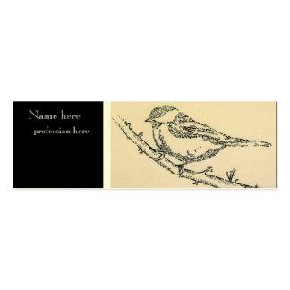 Tarjeta de visita clásica del pájaro