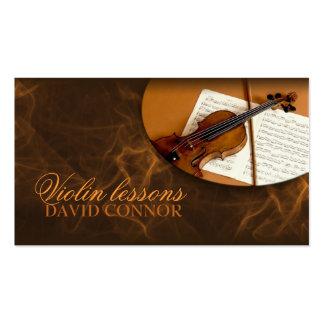 Tarjeta de visita clásica del profesor de música