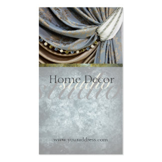 Tarjeta de visita clásica del salón de la cortina