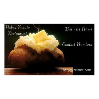 Tarjeta de visita cocida de la patata