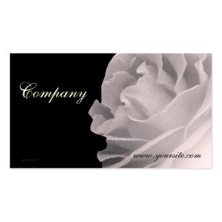 Tarjeta de visita color de rosa blanco y negro