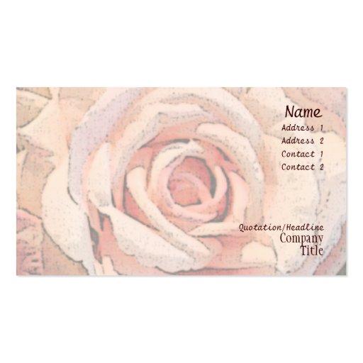Tarjeta de visita color de rosa botánica