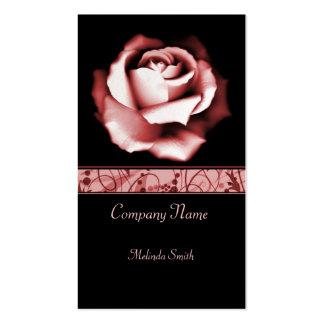 Tarjeta de visita color de rosa de rubíes