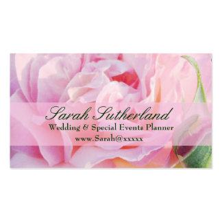 Tarjeta de visita color de rosa del planificador