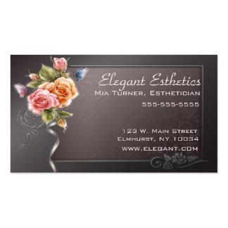 Tarjeta de visita color de rosa elegante