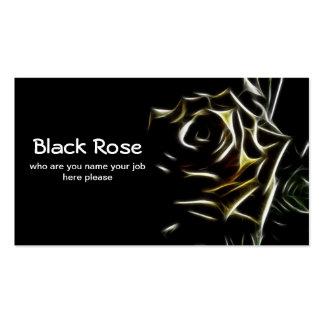 tarjeta de visita color de rosa negra