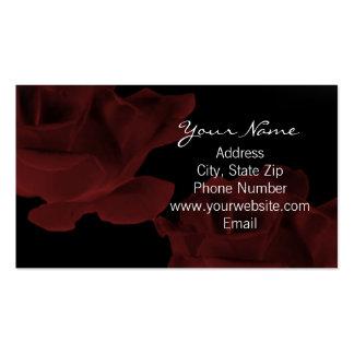 Tarjeta de visita color de rosa rojo oscuro