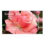 Tarjeta de visita color de rosa rosada