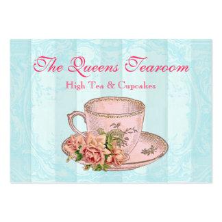 Tarjeta de visita color de rosa rosada de la taza