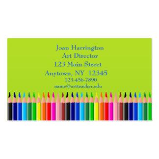Tarjeta de visita coloreada de los lápices