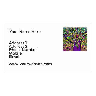 Tarjeta de visita colorida abstracta del árbol