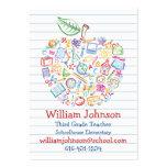 Tarjeta de visita colorida de Apple de los profeso