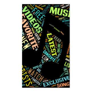 Tarjeta de visita colorida de la nota de la música