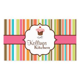 Tarjeta de visita colorida de la panadería de la t