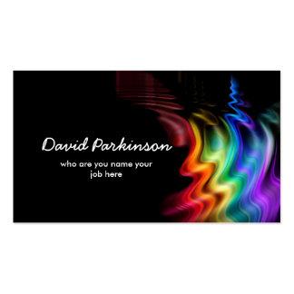 tarjeta de visita colorida de los colores