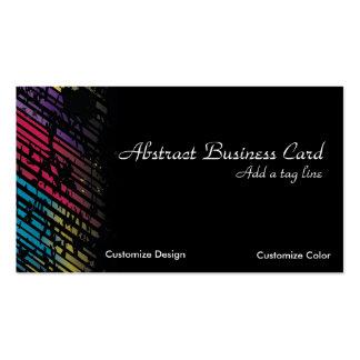Tarjeta de visita colorida del arte