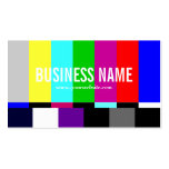 Tarjeta de visita colorida del espectro de la TV